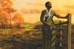 Harriet Tubman at a fence