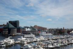 Baltimore Inner Harbor with Marinas