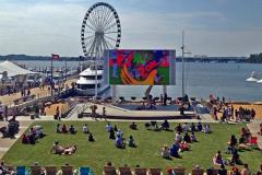Outdoor Movies on Jumbotron, National Harbor