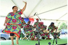 Woman dancing during a Juneteenth Celebration