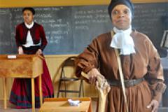 Actress portraying Harrriet Tubman