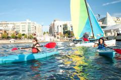 Enjoy water activities around National Harbor's marina.