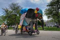 You never know what animals will take flight at the yearly AVAM Kinetic Sculpture Race!