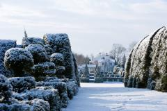 Don't be afraid of a little snow! Ladew's 100 larger-than-life topiary farms sparkle in winter.
