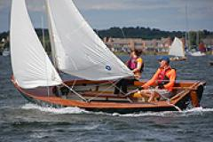 Couple sailing during the Mid-Atlantic Small Craft Festival