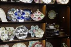 Miss Betty's Collection of Oyster Plates on Display at Fisherman's Inn Restaurant