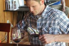 People enjoying a glass of wine
