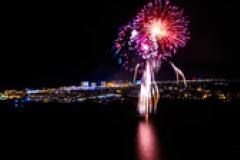 Fireworks display at Ocean City for New Year's Eve