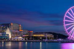 National Harbor at night