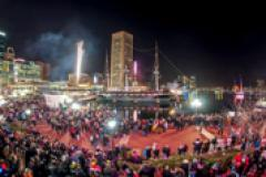 Enjoy fireworks and more during the New Year's Eve Spectacular in the harbor of Baltimore