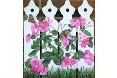 Painted picket fence