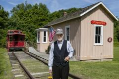 Railroad Conductor at Historic Stevensville Railroad