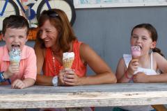 Family enjoying ice cream at the Scottish Highland Creamery, Talbot County