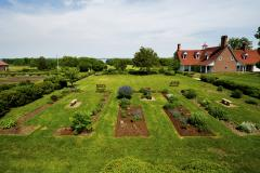 Enjoy the beauty of the colonial revival garden at Historic Sotterley Plantation. During the War of 1812, several of the plantation's enslaved labor force escaped to fight alongside the British.