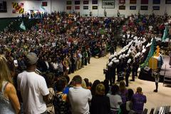 Assembly of students at Stevenson University