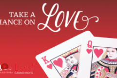 Take A Chance On Love with the King and Queen of Hearts cards
