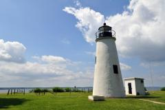 Turkey Point Lighthouse sits atop a 100-foot bluff and offers stunning views of the Chesapeake Bay.