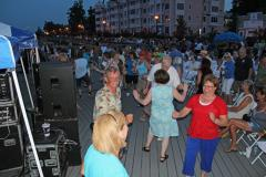 People dancing to music