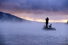 Deep Creek in Western Maryland provides a serene backdrop for bass fishing.