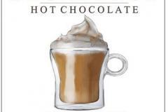 hot chocolate watercolor