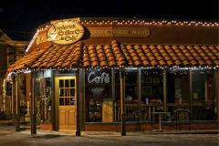 Frederick Coffee Company store at night