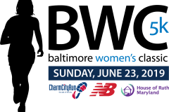 Baltimore womens running festival logo