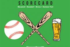 Baseball and brew scorecard