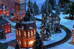 Christmas Train Garden in Cambridge