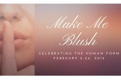Make Me Blush Exhibit Poster