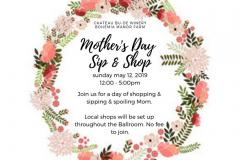Mother's Day Sip & Shop poster