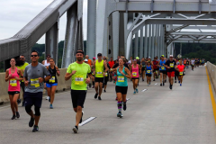 Susquehanna River Running Festival Particpants Cross the Hatem Bridge