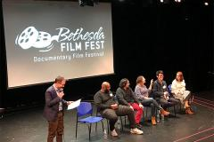 Filmmakers take questions from the audience after screenings