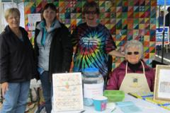 quilters at the Dogwood Festival of Galena