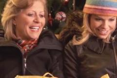 Two women holiday shopping