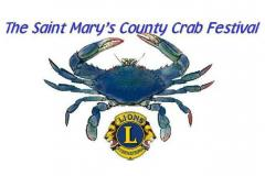 The Saint Mary's County Crab Festival Blue Crab Logo