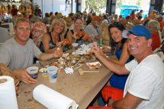 People enjoying the Tilghman Island Seafood Festival