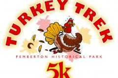 Turkey Trek 5 K at Pemberton Historical Park annual poster