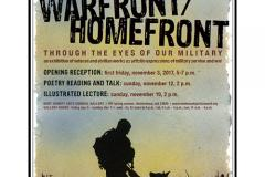 War Front/Home Front - Through the Eyes of Our Military Exhibit poster