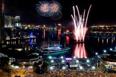 July 4 fireworks over Baltimore's Inner Harbor