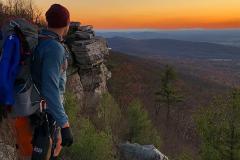 hiker at a hilltop