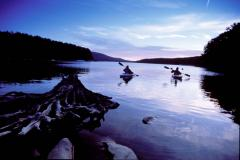 Skim over the calm waters of Deep Creek Lake.