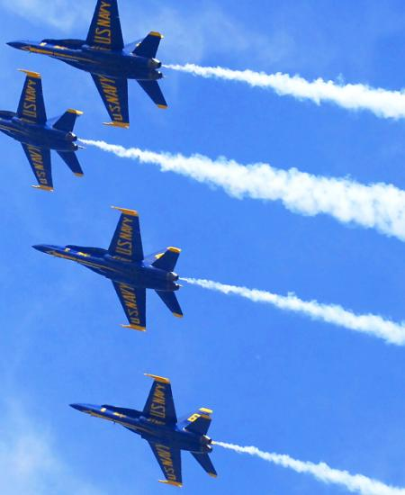 See the Blue Angels fly during Fleet Week in Maryland