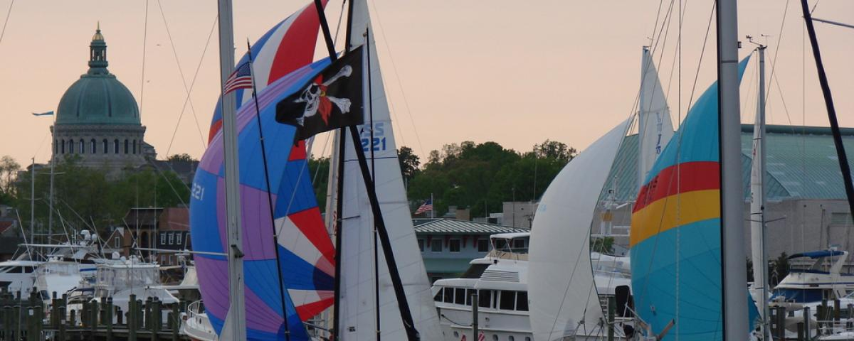 Spend a calm evening watching the Wednesday Night Sailboat Races in Annapolis MD.