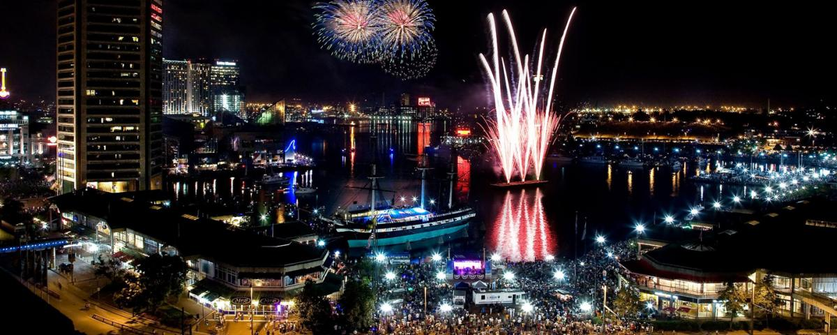 July 4 fireworks over Baltimore's Inner Harbor, Baltimore Office of Promotion and Arts