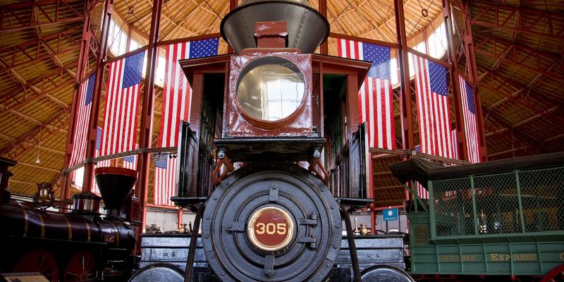 Impress your train lover with a trip to the B & O Railroad Museum in Baltimore, where you can see, touch, hear and explore the most important railroad collection in America.