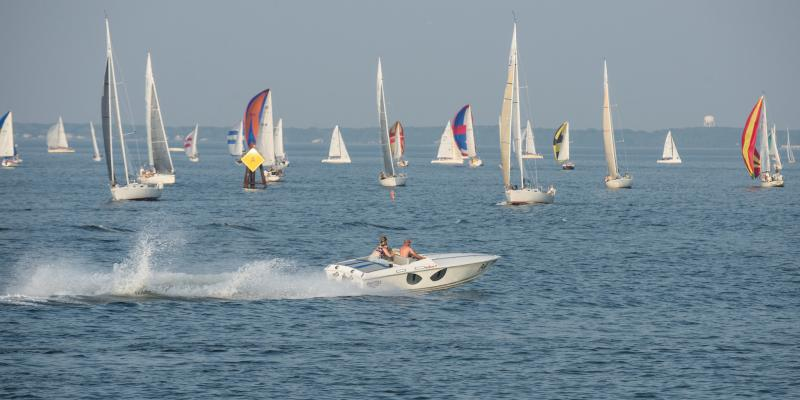 """Sailboat regattas are a regular sight on the water in Annapolis, nicknamed """"America's Sailing Capital."""""""