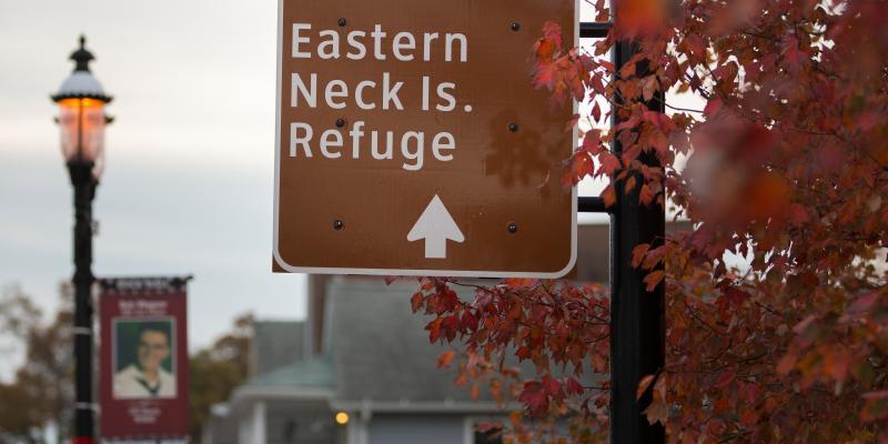 Sign to Eastern Neck Island Refuge