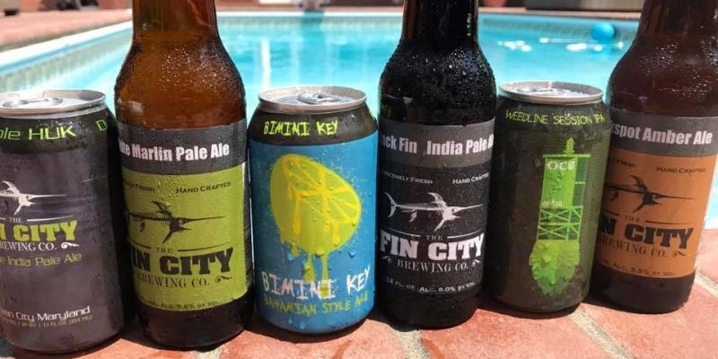 Beer from Fin City Brewery in Ocean City
