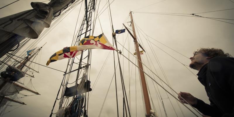 Maryland Flag on Schooner Sultana