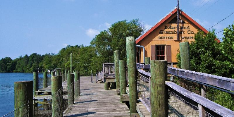 "Known as ""Joppa Wharf"" by locals of the time, the Choptank River Heritage Center is a replica of the 1883 Maryland Steamboat Company's Denton Wharf, and includes a small historical museum as well as the Caroline County Office of Tourism."